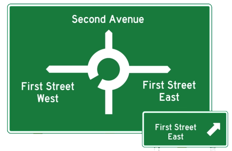 Directional street Sign